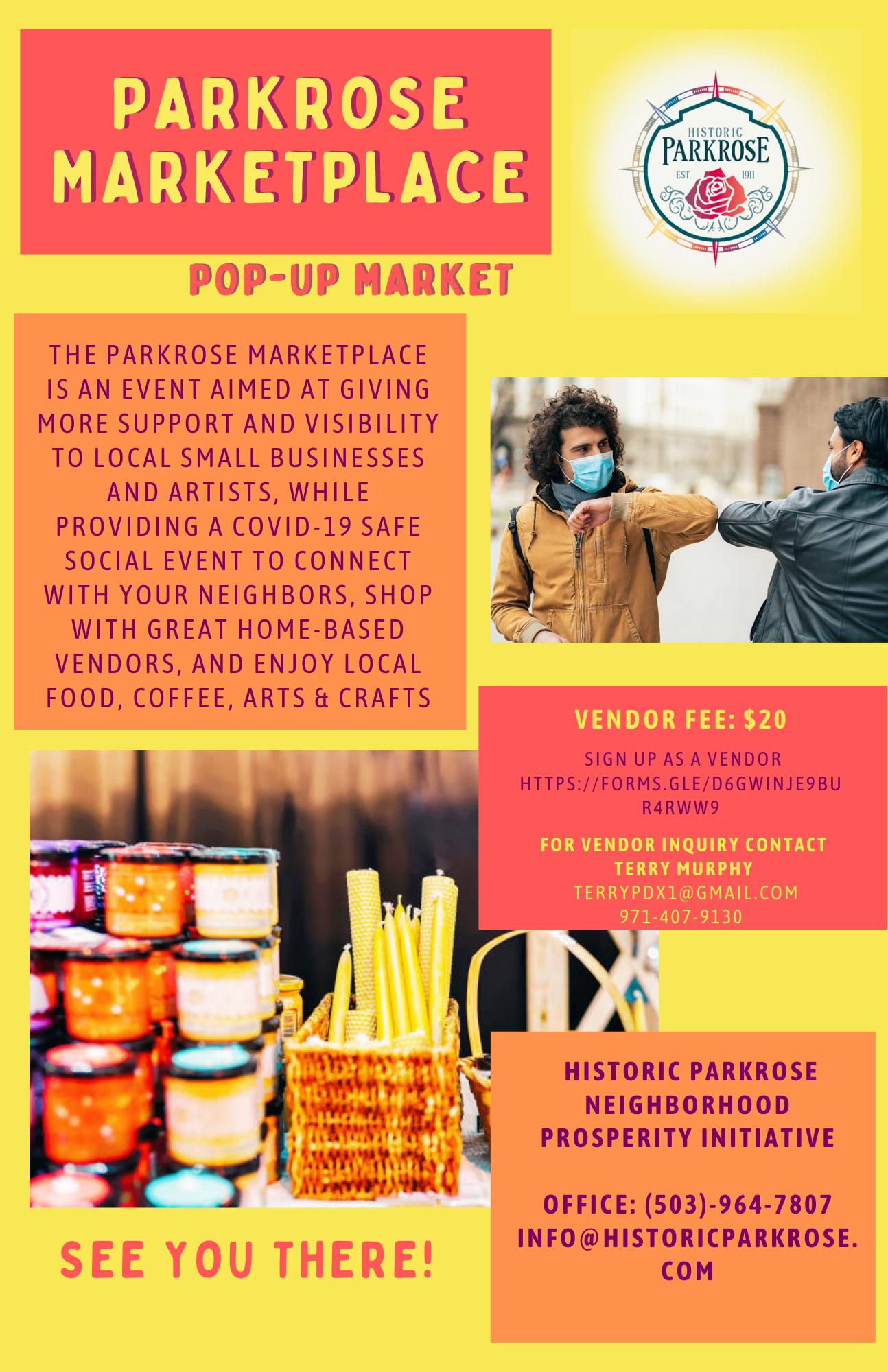 Parkrose Marketplace Monthly Pop-up Market Flyer